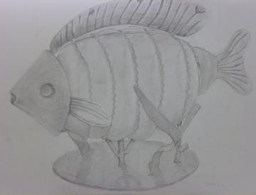 魚のオブジェ