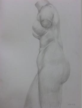 トルソ―石膏像